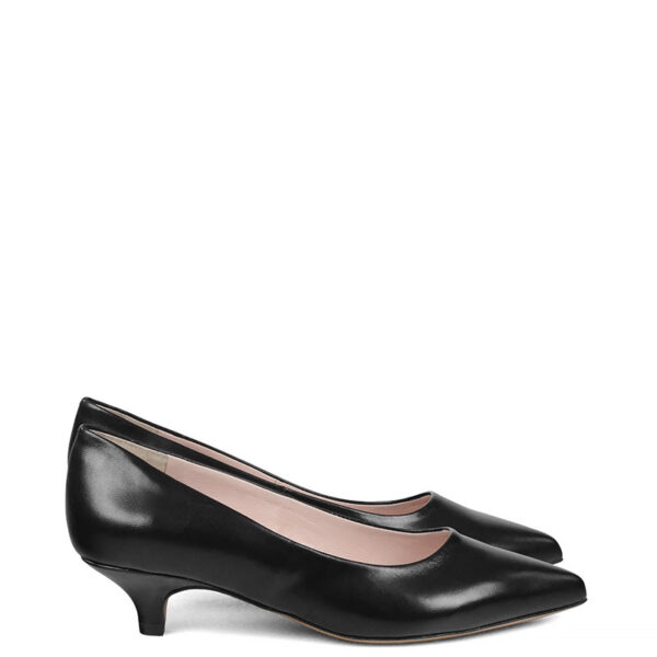 GASSU JESSICA Czarne buty na niskim obcasie