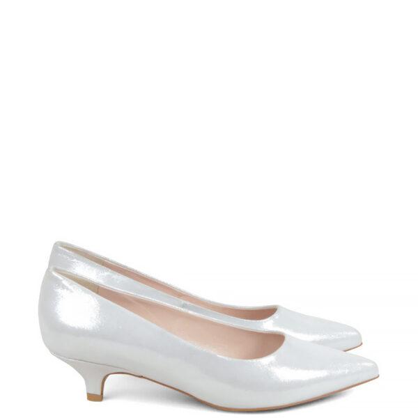 GASSU JESSICA - Jasne srebrne buty na wesele.
